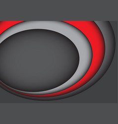 Abstract red gray curve overlab design vector
