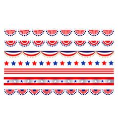 American abstract flag symbols border divider vector