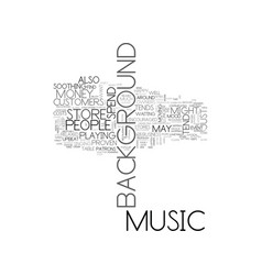 Background music text word cloud concept vector