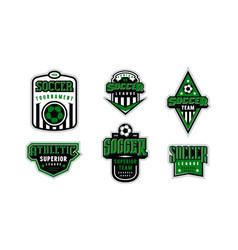 badges set soccer tournament vector image