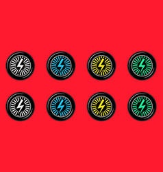 black wheel with electric sign vector image