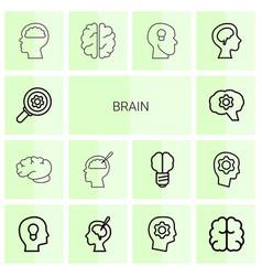 brain icons vector image