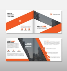 Brochure Leaflet Flyer annual report template set vector