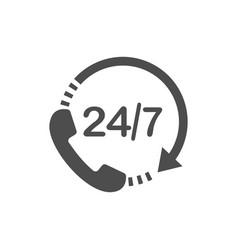 call 24 icon call centre vector image
