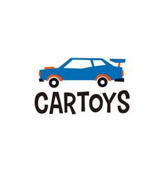 car toys logo icon vector image