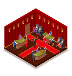 casino room isometric image vector image