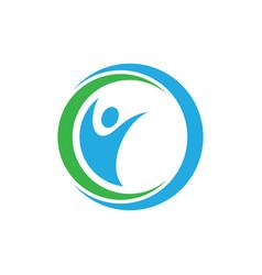 Circle human logo image vector