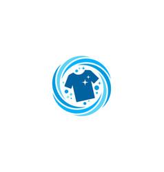 Cloth laundry logo icon design vector