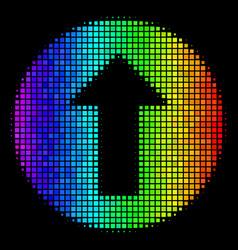 Colored pixel rounded arrow icon vector