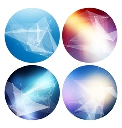 Colorful collection set of trendy geometric vector image