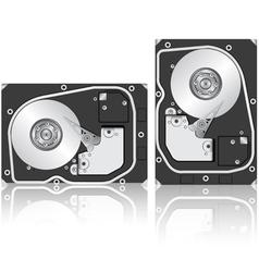 computer hard drive vector image