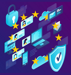 Concept general data protection regulation vector