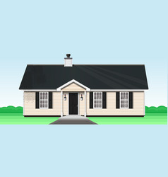 Cozy one storey wooden house vector