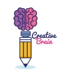 creative brain concept icon vector image