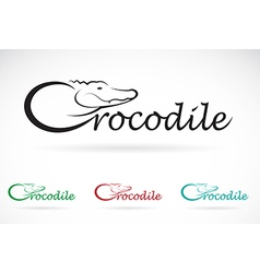 Crocodile text vector