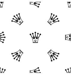 crown pattern seamless black vector image