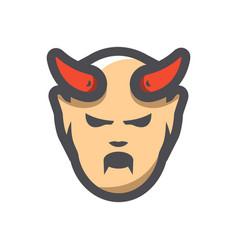 devil halloween icon cartoon vector image