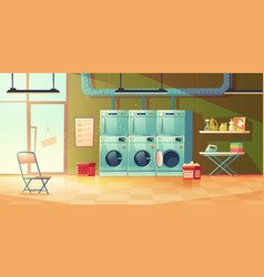 dry cleaning service laundry room interior vector image
