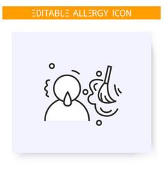 Dust allergy line icon editable vector