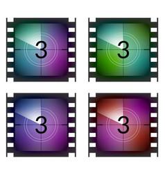 Film strip countdown movie number cinema vintage vector