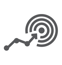 goal glyph icon business and success aim sign vector image