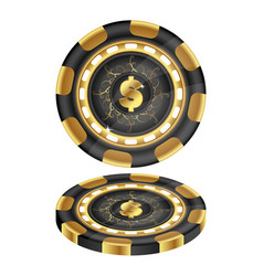 golden casino chips vector image