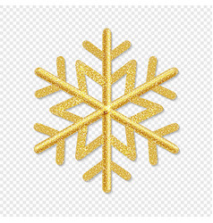 golden snowflake isolated transparent background vector image