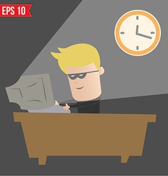 Hacker hacking on computer - - EPS10 vector image