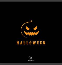 Halloween pumpkin mascot logo design vector