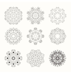 Hand drawn mandala set vector image