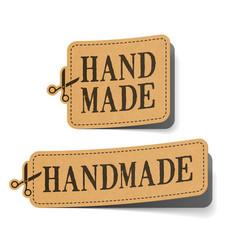 handmade label vector image