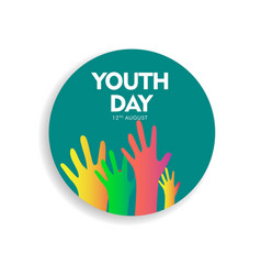 Happy youth day celebration template design vector