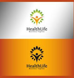 health life logo template vector image