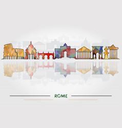 historic buildings rome vector image