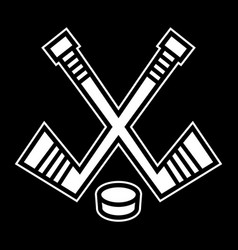 Hockey stick puck designhockey stick puck design vector