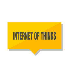 internet of things price tag vector image