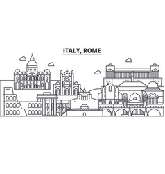 Italy rome architecture line skyline vector