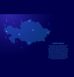 Kazakhstan map country abstract silhouette from vector