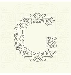 Letter G Golden Monogram Design element vector image