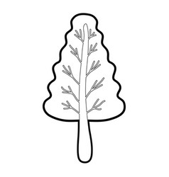 Line nice organic plant with branches vector