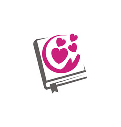 Love and book vector