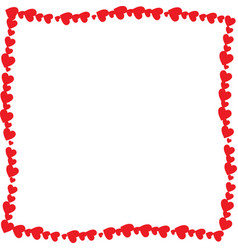 love twisted frame made of cartoon red different vector image