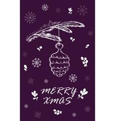 Marry Christmas Card vector