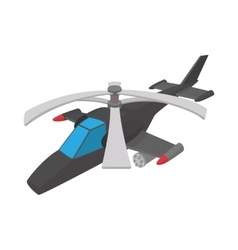 Military helicopter icon cartoon style vector image