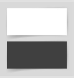 mockup paper card empty blank template vector image