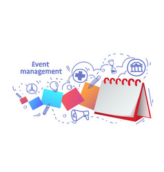 Notebook reminder icon agenda event management vector