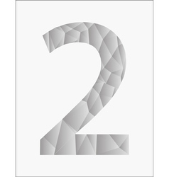 Number two on a white background vector image