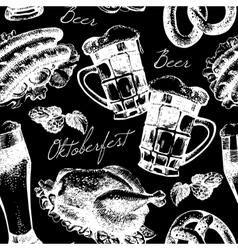 Oktoberfest vintage seamless pattern vector image