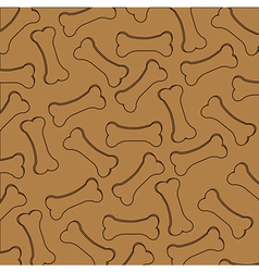 Pattern kibble dog silhouettes isolated on brown b vector