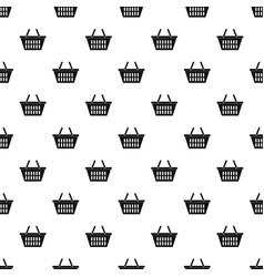 Plastic shopping basket pattern vector